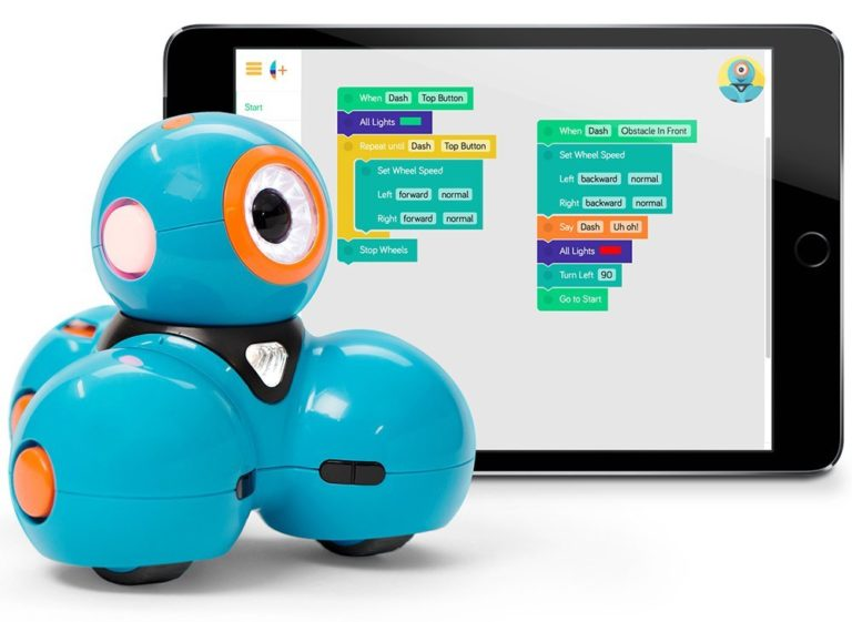 Dash robot ja Blockly programm