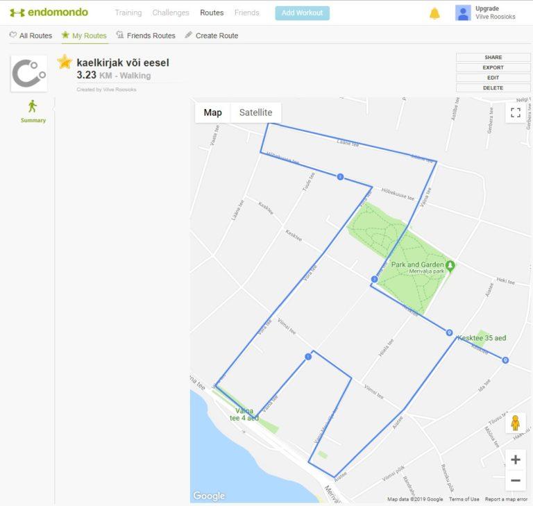 GPS kunst Endomondoga